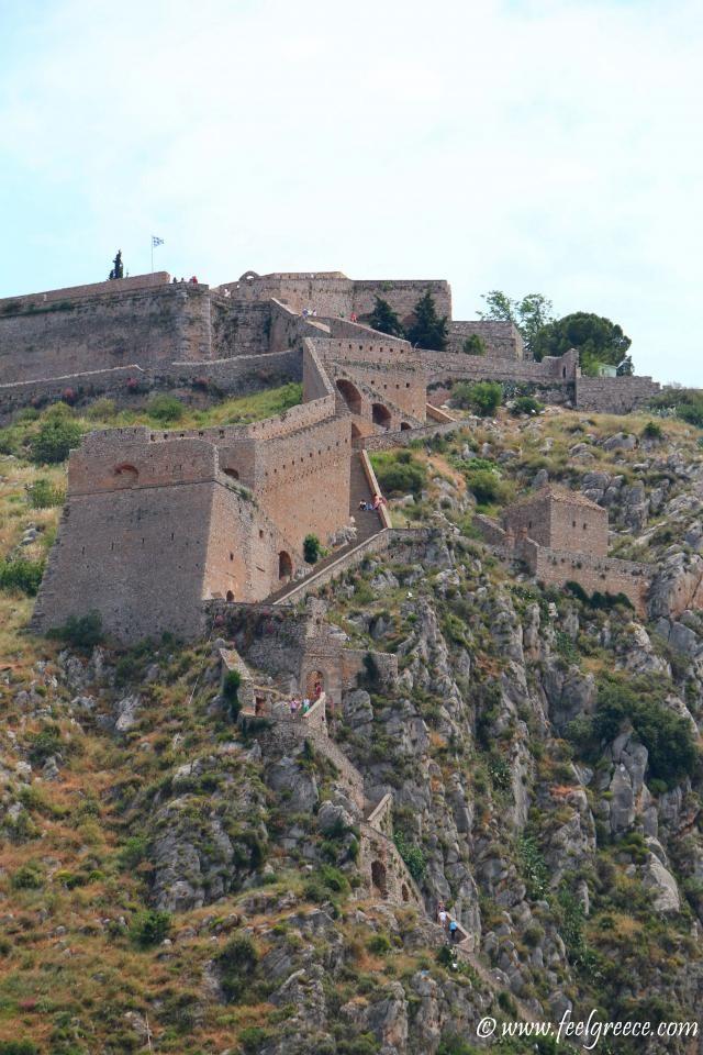 The stairs leading to Palamidi; photo from Nafplio, Argolis Region
