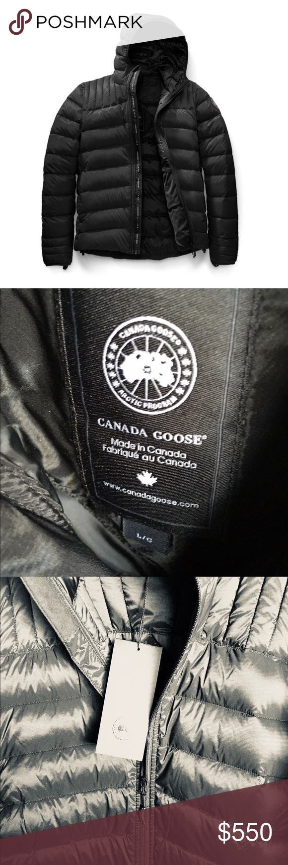 Canada Goose Brookvale Jacket Authentic Canada Goose Brookvale Black Label Hooded Jacket. Color:black Size:L  Poshmark will authenticate if asking price is met. Canada Goose Jackets & Coats Lightweight & Shirt Jackets
