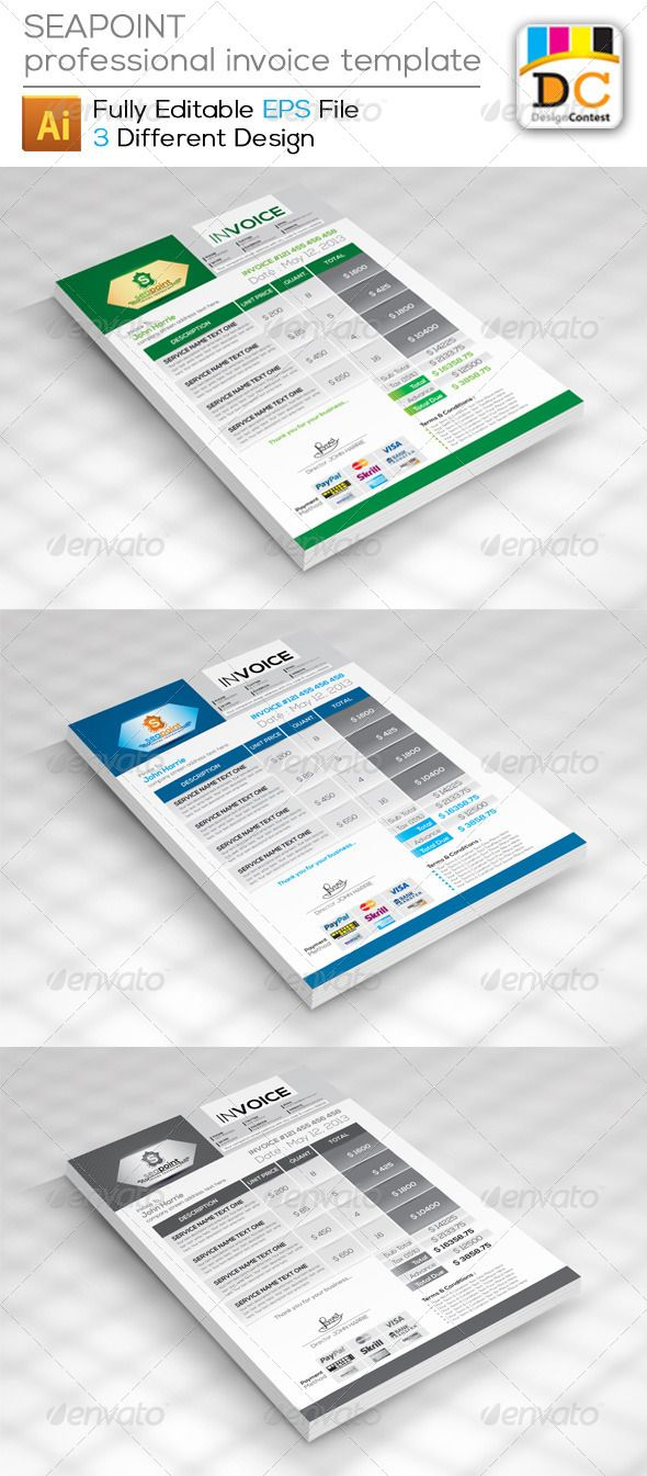 Color printing bu - Seapoint Corporate Creative Invoices Graphicriver Seapoint Corporate Creative Invoices Easy To Modify Fully Editable Resizable Cmyk Color Print Ready