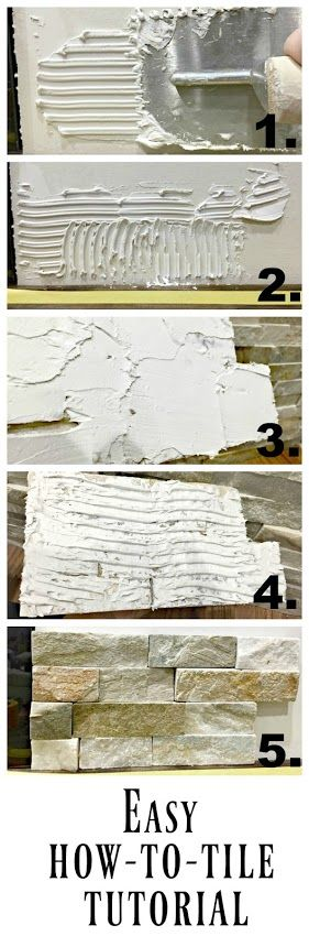 How to install stacked stone tile on a fireplace wall - fantastic DIY tutorial!