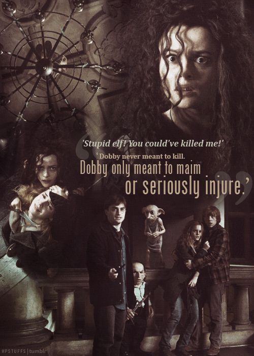 """Dobby never meant to kill. Dobby only meant to maim or seriously injure."""