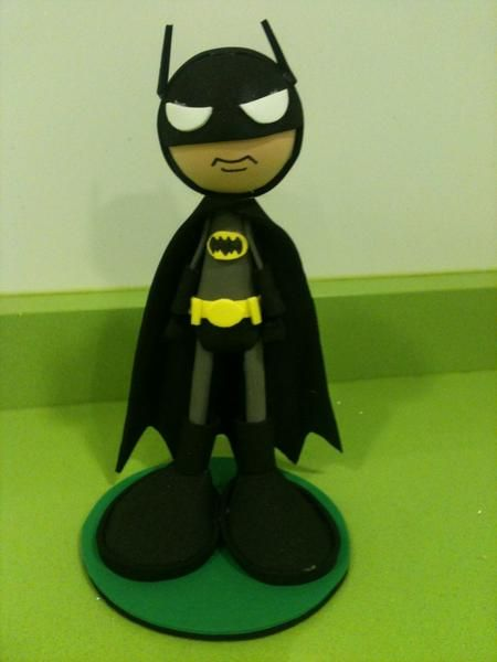 Batman Foam Figure by anapeig.deviantart.com