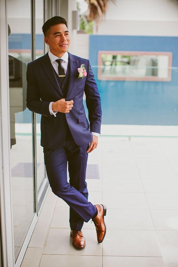 Joe Button customer weddings - navy wedding suit