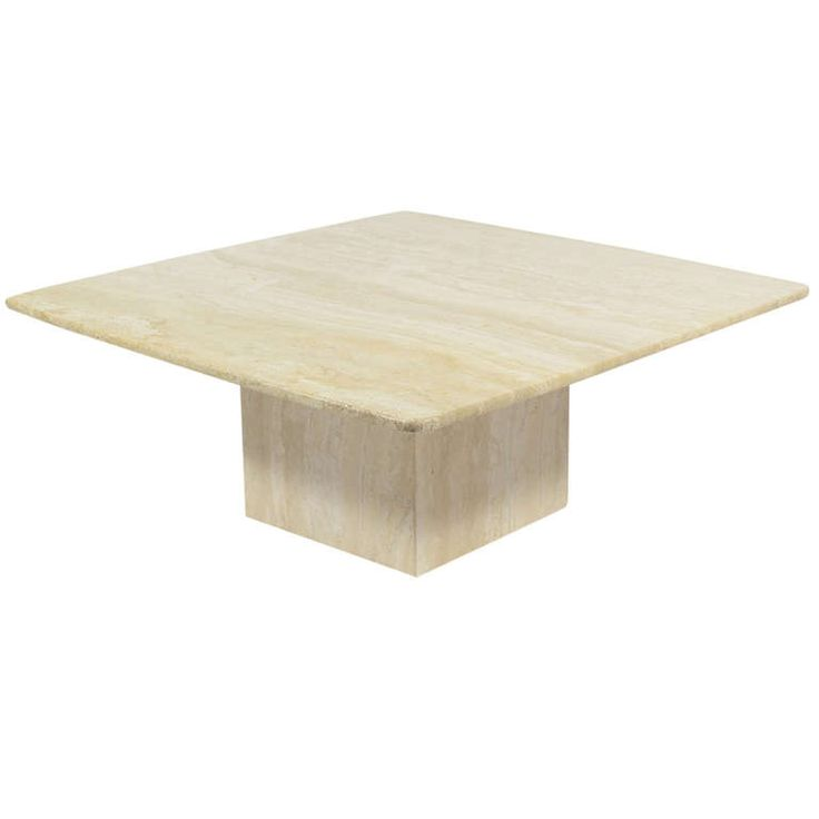 Italian Travertine Coffee Table by Ello   From a unique collection of antique and modern coffee and cocktail tables at http://www.1stdibs.com/furniture/tables/coffee-tables-cocktail-tables/