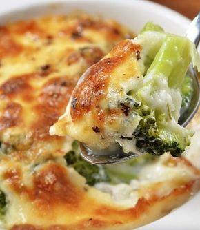 ¡Receta de brócolis gratinados! #Light