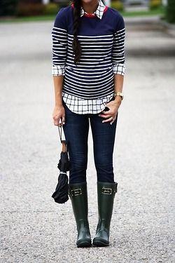 stripes / checks /wellies.