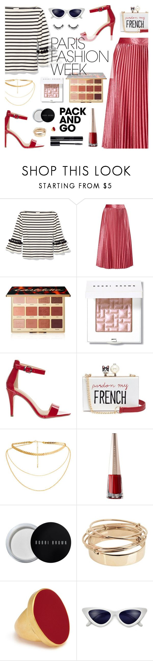 """Pack and Go: Paris Fashion Week"" by dora04 ❤ liked on Polyvore featuring Marc Jacobs, tarte, Bobbi Brown Cosmetics, Classified, Cecilia Ma, Valentino, Kenneth Jay Lane, Velour Lashes, parisfashionweek and Packandgo"