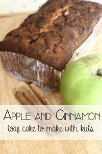 Apple and Cinnamon Loaf Cake for Kids to Make