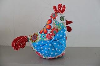 fabric hen
