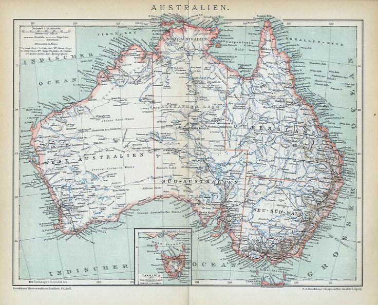 Antique Map of Australia, 1896