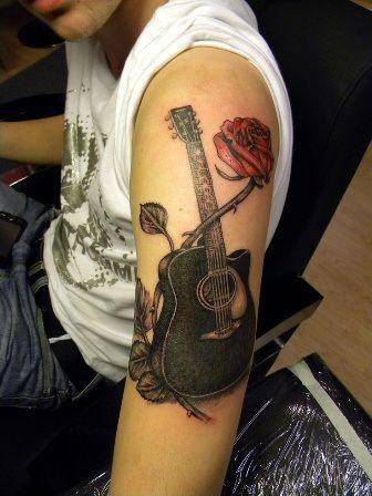 Guitar Tattoo Designs » Tattoos15.com Please Follow to view new tattoos everyday or visit tattoos15.com