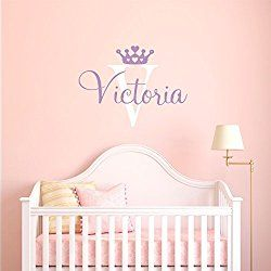 Personalized Name Princess Wall Decal