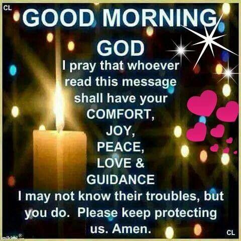 Good Morning God
