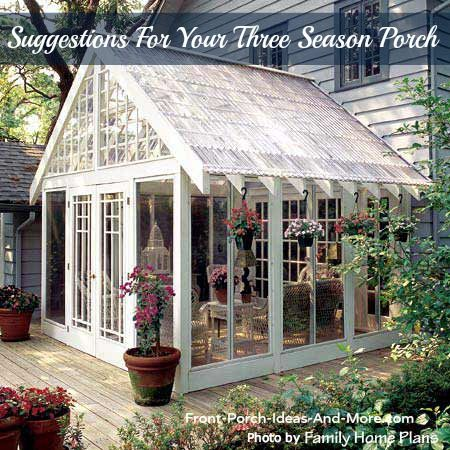A lot to be said about having a 3 season porch. Learn from our suggestions at Front-Porch-Ideas-and-More.com #porch #threeseasonporch