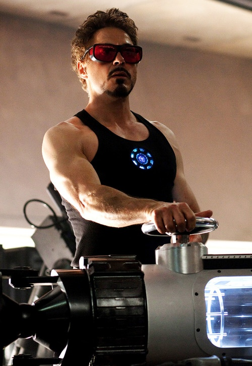 "Robert Downey Jr in ""Iron Man"" (2008)"