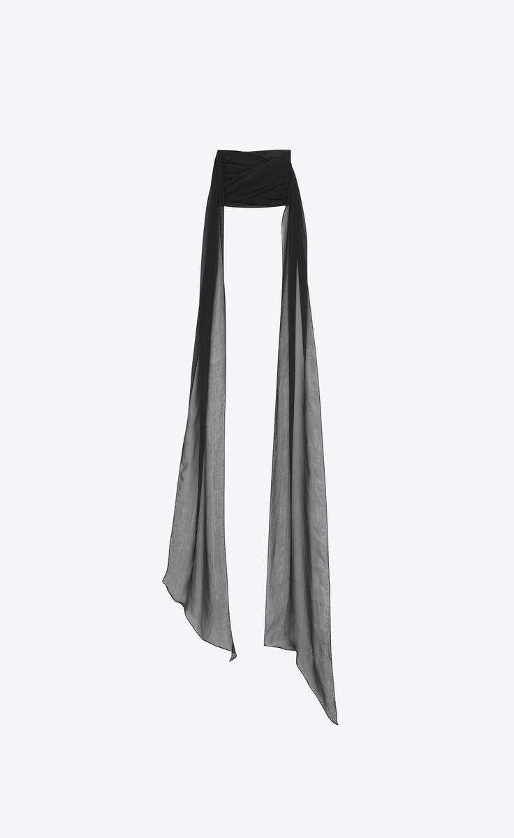 Saint Laurent - Lavallière in black silk muslin