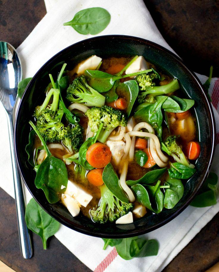 Produce On Parade - Veggie Miso Udon Soup