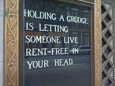 Holding a grudge...