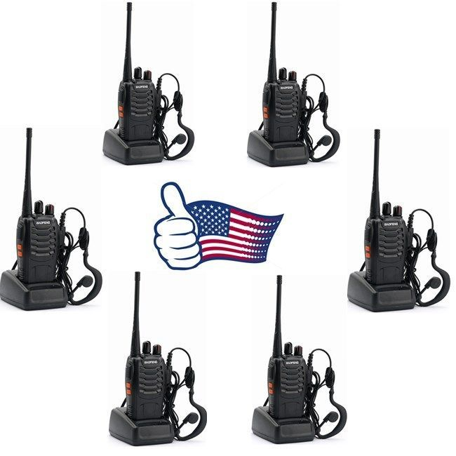 6x Baofeng BF-888S UHF 400-470MHz 5W Handheld Two-way Ham Radio HT Walkie Talkie #Baofeng