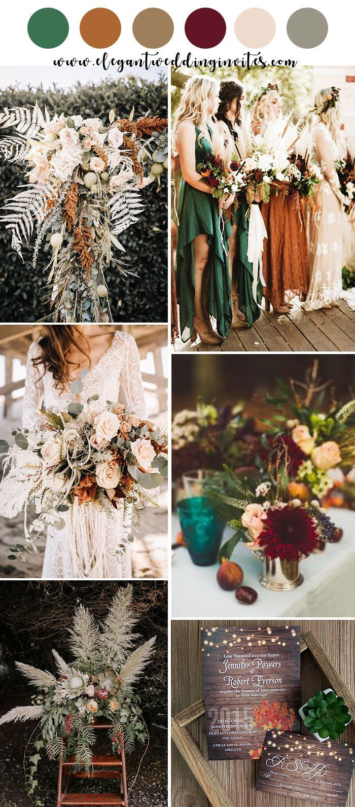 Stunning Orange And Teal Blue Fall Wedding Color Inspiration Blue Fall Wedding Boho Wedding Colors Fall Wedding Colors