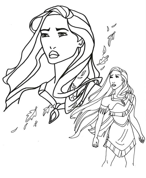 Pocahontas forest girl coloring pages play coloring for Pocahontas coloring page