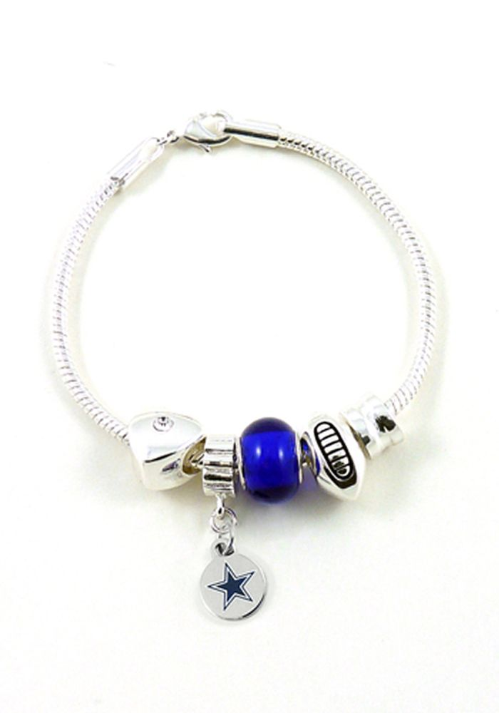dallas cowboys charm and bead womens bracelet dallas