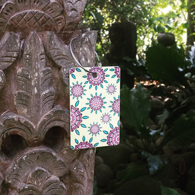 Our stunning mandala bag tags. Inspired by some of the most beautiful yoga shalas around the globe. Adorn your bag with a practical and gorgeous tag. Designed and printed in Melbourne, shipped to the world. http://www.justbagtags.com.au/product-tag/yoga/