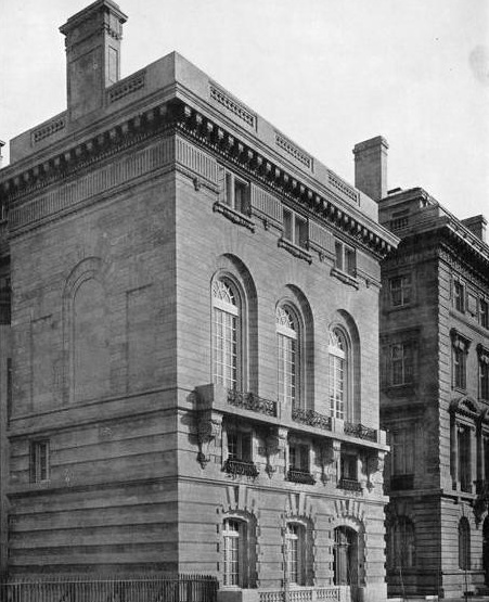 7 East 91st Street, a house of surpassing - some would say excessive - luxury, paid for by furniture magnate William D. Sloane, completed in 1905 to the designs of New York's great proponent of the Beaux Arts, Whitney Warren, and used as a city residence by Sloane's daughter Adele and her husband James Abercrombie Burden.