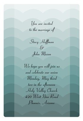 """""""Waves""""  printable invitation template. Customize, add text and photos. Print or download for free!"""
