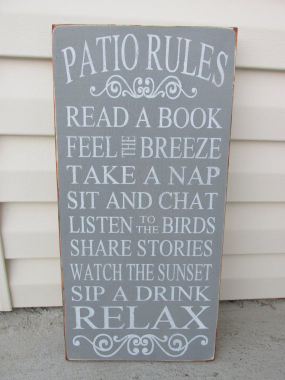 SPRING Summer SIGN Mothers Day, GUYS gift Porch Rules Sign,Patio Rules,Deck Rules,Outdoor Signs,Gift,Hand Painted Custom, Unique Present