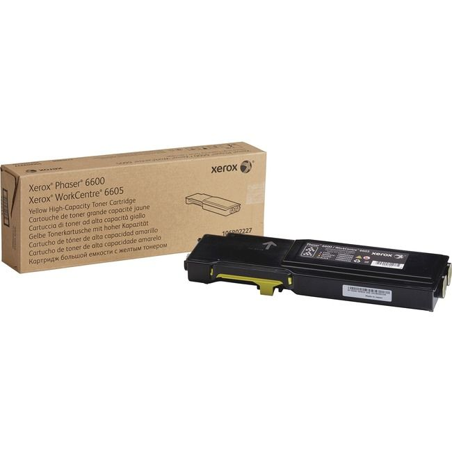 Xerox Original Toner Cartridge – Laser – High Yield – 6000 Pages – Yellow – 1 Each