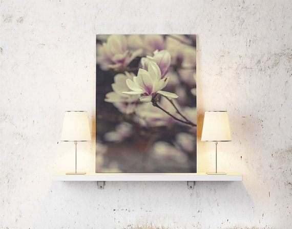 Nature print magnolia flower photography prints by BonVoyageStudio