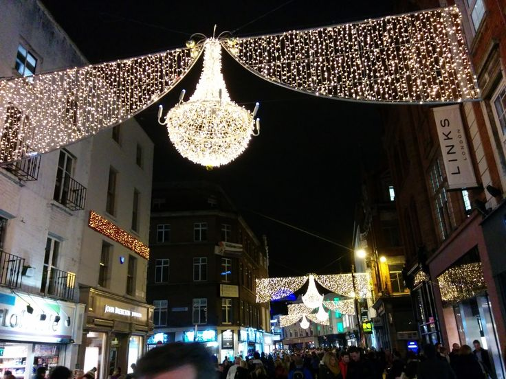 Christmas street lights on Grafton Street, Dublin.