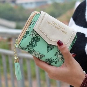 Excellent Quality Womens Wallet Leather Vintage Womens Bifold Money Bag Card Holder