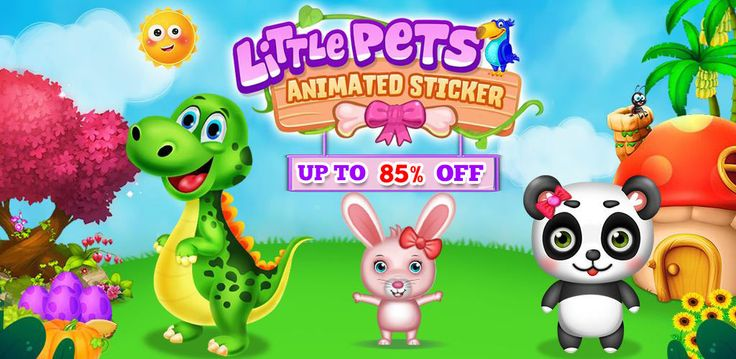 #KidsGameSourcecode  Today you have the perfect chance to Build your own kids #LearningGame. Little Pets Animated Sticker now 85% #OFF.