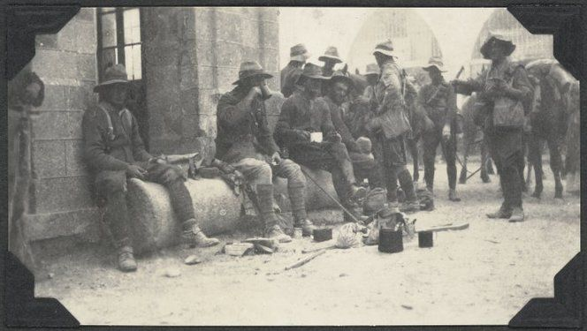 16 November 1917: Troopers of Wellington Mounted Rifles in Jaffa during World War I