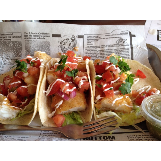 Fish tacos at The One That Got Away on King West: Fish Tacos, Mr. Tacos
