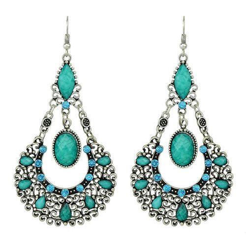 $10 Bohemian Statement Crystal Drop Earrings