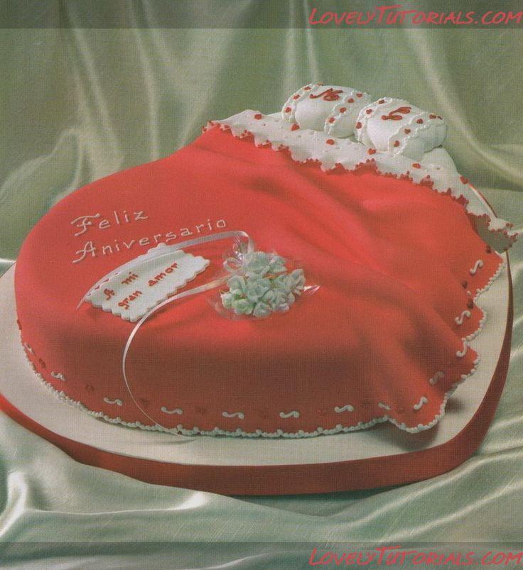 Торт в виде кровати на годовщину свадьбы -wedding bed cake tutorial - Мастер-классы по украшению тортов Cake Decorating Tutorials (How To's) Tortas Paso a Paso
