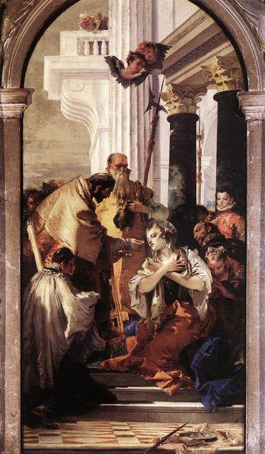 Τελευταία Κοινωνία της Αγίας Λουκίας. (1747-48)