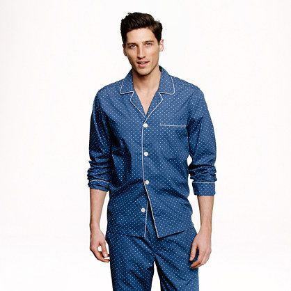 Pajama set in dot - pajama sets - Men's underwear & sleepwear - J.Crew