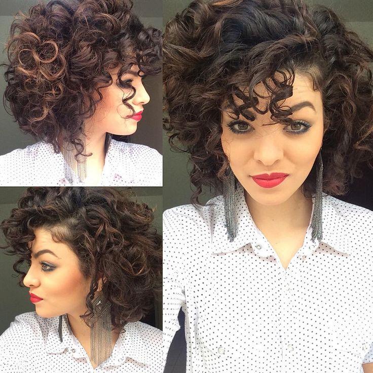 chanel de bico com camadas desconectadas - curly bob - short hair 2c/3a