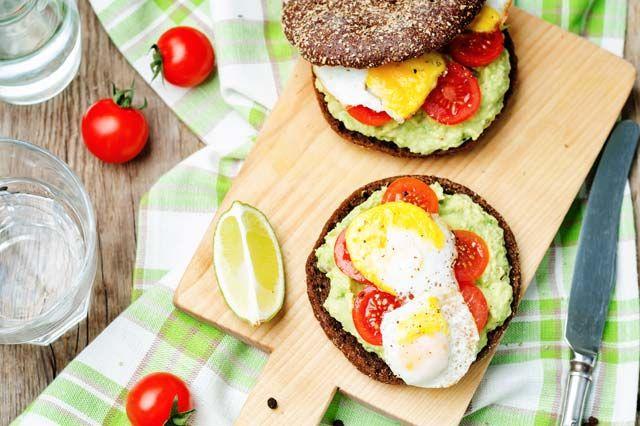 Open Faced Egg and Avocado Sandwich