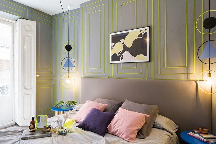 decoration graphique mur chambre