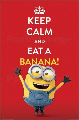 Filmposter Minions - Keep Calm and eat a banana