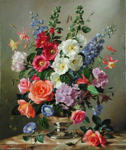 37 best albert williams art images on pinterest flower Painting arrangements on wall
