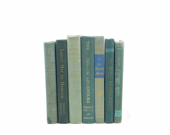 Aged Sea Green Antique BOoks, Rustic Decorative Books, Wedding Centerpiece, Sage Book Decor, Old Book Set, BOok Stack, BOok Collection