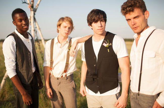 Casual Men's wedding fashion. A Wedding in the Wheat Fields