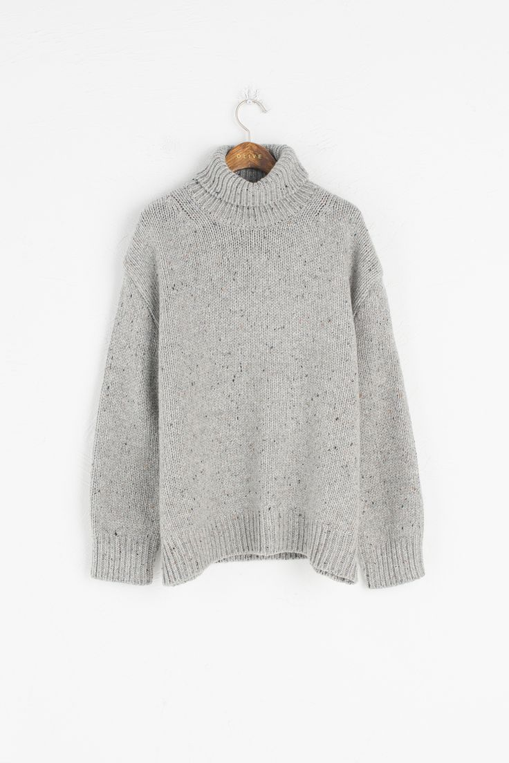 Olive - Boucle Detail Pullover Jumper, Grey, £79.00 (http://www.oliveclothing.com/p-oliveunique-20161207-005-grey-boucle-detail-pullover-jumper-grey)