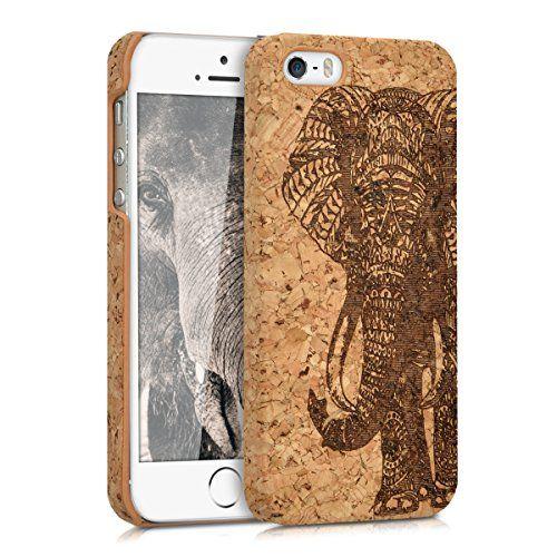 kwmobile Funda de corcho para Apple iPhone SE / 5 / 5S - Case trasero Diseño estampado elefante para móvil - Cover protector duro en marrón oscuro marrón claro - http://www.tiendasmoviles.net/2017/09/kwmobile-funda-de-corcho-para-apple-iphone-se-5-5s-case-trasero-diseno-estampado-elefante-para-movil-cover-protector-duro-en-marron-oscuro-marron-claro/